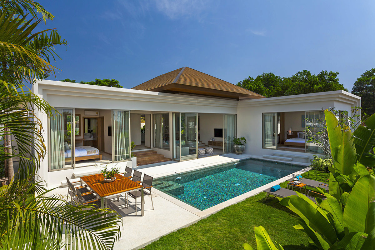 Modern tropical 3 bedroom pool villa in bang tao layan for Pool design for villa